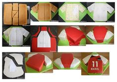 Football jersey cake instructions