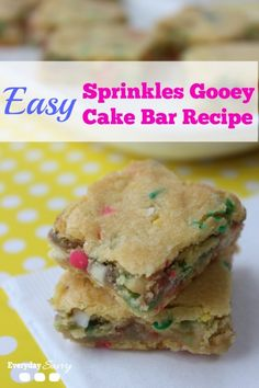 Easy Gooey Cake Bar Recipe - Perfect for Easter or Spring. Yum!