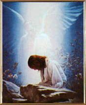 """""""AN ANGEL FROM HEAVEN APPEARED TO HIM AND STRENGTHENED HIM"""" (LUKE 22:43)."""