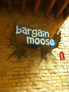 The Bargainmoose logo in real life.