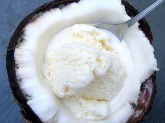 Coconut ice cream in ice cream!