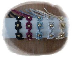 Crochet Bracelet and Studs   https://www.facebook.com/hilaria.fina