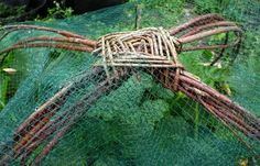 making our own supports for bird netting over the strawberries this spring!