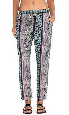 Surf Gypsy Paisley Print Pant in Navy | REVOLVE