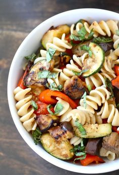 Grilled Ratatouille Pasta Salad Recipe on twopeasandtheirpod.com #pasta #salad #summer