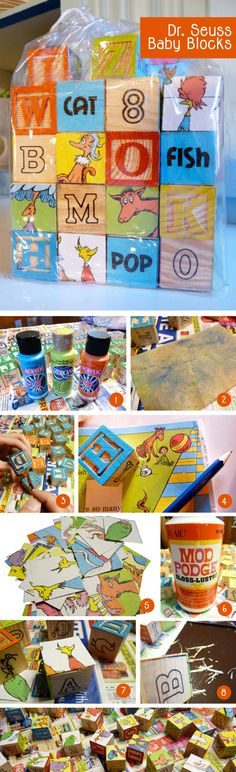 Dr. Seuss Blocks....or any kind you want! Fun idea.