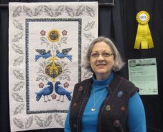 Ellene's Billy's Bluebirds won third place in the Wall Hanging category at the MidAtlantic Quilt Festival