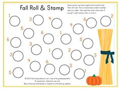 Free Fall Roll and Stamp from The Measured Mom