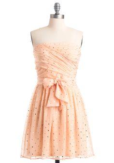 baby pink strapless dress