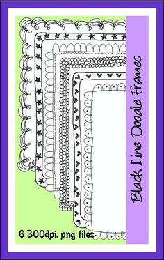 Black line Doodle Frames Commercial use welcome!