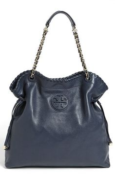 gorgeous navy Tory Burch tote