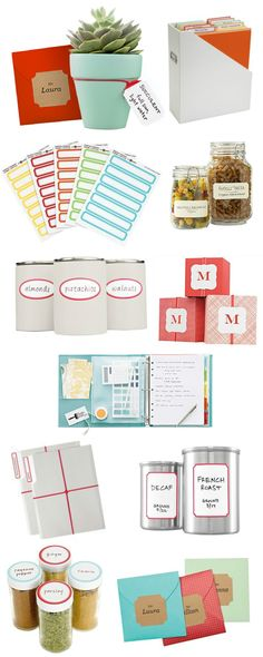 Martha's labels #letters #labels #storage #organized #organization #stickers