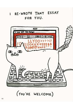 A Cat's Life by Gemma Correll -- absolute must for any cat owner, or anyone who's owned by their cats. #catober