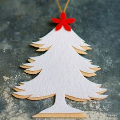 A white overlay creates a shadow effect on this simply styled ornament: http://www.bhg.com/christmas/ornaments/easy-felt-christmas-ornaments/?socsrc=bhgpin101714twotonefelttreeornament&page=3