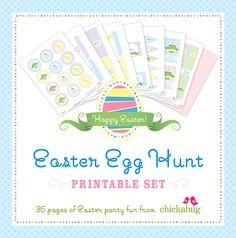 Easter Egg Hunt Printable Set.  Super duper fun!!