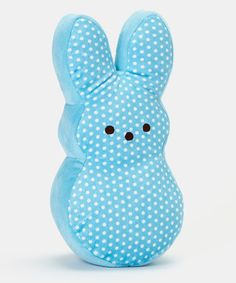 This Blue Polka Dot Peeps Bunny Medium Plush Toy by PEEPS® is perfect! #zulilyfinds
