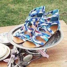 Ikat Gladiator Sandals