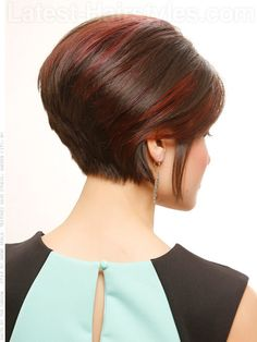 Short and Sexy Softly Rounded Cut Back View