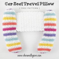 Free Crochet Pattern: Car Seat Travel Pillow For Baby & Toddler More