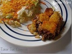 dinner, delici dish, glorious food, main dish, tater tots, comfort food, beef recip, tot casserol, tatertotcasserol
