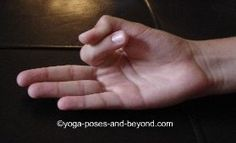 Vayu Mudra    Pull index finger toward palm, place tip of thumb on top to hold with slight pressure, straighten the remaining fingers.    Benefits cures impurities of the blood circulation, benefits neck and spine. Consistent practice eliminates all wind related ailments like arthritis, joint pain, gout, vertigo, sciatica, knee pain and ceases gas formation.#Repin ByPinterest   for iPad#