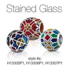 Stained glass Persona bracelet beads