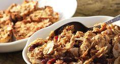 Low Sodium Homemade Orange-Vanilla, Cranberry and Pecan Granola (or Granola Bars) cranberri, granolabar, granola bar, pecan