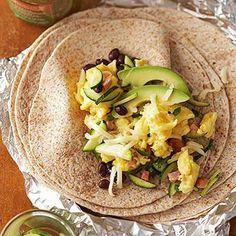 Green Eggs and Ham Breakfast Burritos