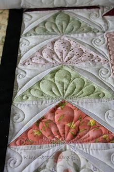 Sew-n-Sew Quilting: Quilting over the weekend.... - Beautiful quilting on the flying geese!