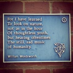 This is why I love him. Poets are the only honest historians. (William Wordsworth)
