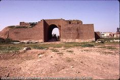 Nineveh. Mashki Gate. Iraq  Nineveh was one of the oldest and greatest cities in antiquity. The area was settled as early as 6000 BC and, by 3000 BC, had become an important religious center for worship of the Assyrian goddess Ishtar. The early city (and subsequent buildings) were constructed on a fault line and, consequently, suffered damage from a number of earthquakes. One such event destroyed the first temple of Ishtar which was then rebuilt in 2260 BC by the Akkadian king Manishtusu.