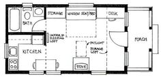 Small and prefab houses on pinterest floor plans tiny for 14x24 cabin plans