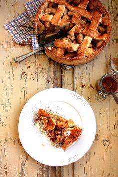 Rustic apple pie.