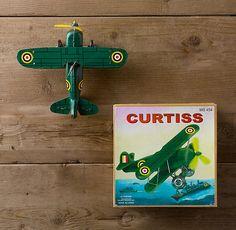 wind-up Curtiss Biplane $20.00 Restoration Hardware