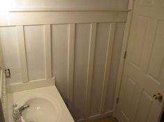 small bathroom board & batten