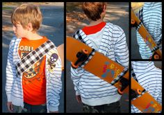 20 Handmade Gift Ideas for Boys by www.thingsforboys.com - skateboard sling