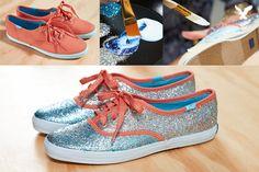 4h project, fashion, craft, style, diy fun, diy shoes keds, diy glitter keds, keds diy, diy keds shoes