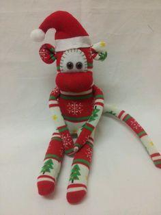 christmas sock monkey more sock monkeys christmas socks monkeys socks ...