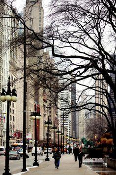CHICAGO - Michigan Avenue.