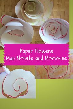 Paper Flower Art from @Mini Monets and Mommies