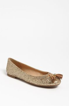 sperry top-sider bliss flat in gold glitter