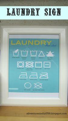 diy laundry sign, idea, laundri sign, laundry rooms, laundri room