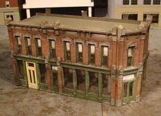 HO Scale Building DPM Seymour Street Built Weathered | eBay