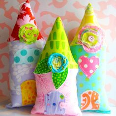 Fabric Houses by Laurie Star, via Flickr