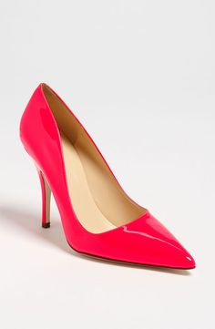 Need a runway to strut in these fluorescent pink Kate Spade pumps.