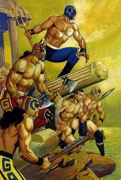 luchador, rafael gallur, lucha monstruo, atlanti warrior, lucha libr, rafaelgallur