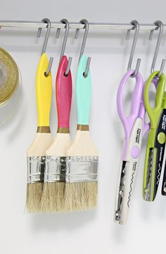 IHeart Organizing - Cabinet - S hook idea.