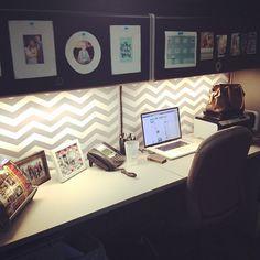 chevron office, workspac promot, office organization wall, cubicle decor, office cubicle organization, cubicle wall decor, office decor cubicle, decorate cubicle, organ workspac