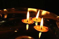 Floating Walnut Candles