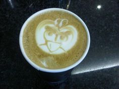 Angry Bird Coffee Art